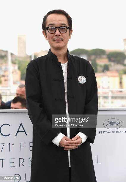 Actor Lily Franky attends the photocall for Shoplifters during the 71st annual Cannes Film Festival at Palais des Festivals on May 14 2018 in Cannes...