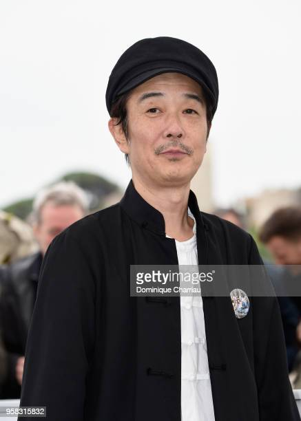 Actor Lily Franky attends the photocall for the Shoplifters during the 71st annual Cannes Film Festival at Palais des Festivals on May 14 2018 in...