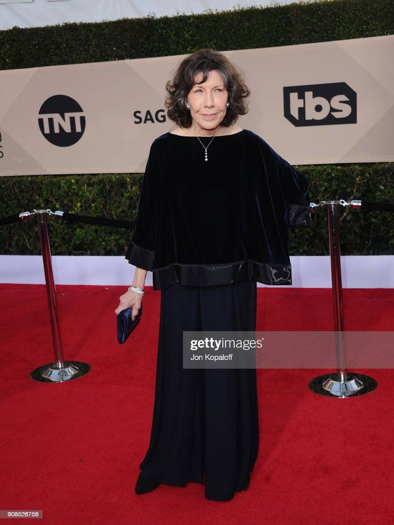 Actor Lily Tomlin attends the 24th Annual Screen ActorsGuild Awards at The Shrine Auditorium on January 21, 2018 in Los Angeles, California.