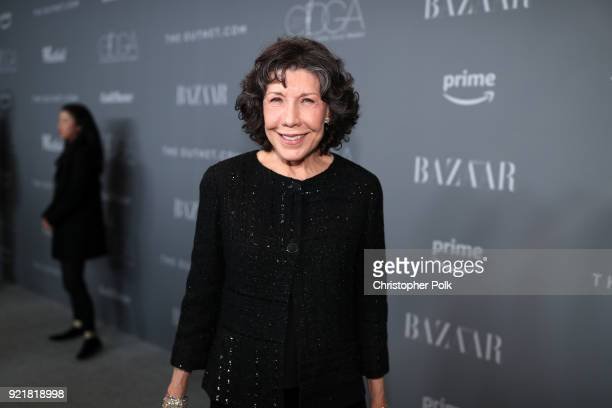 Actor Lily Tomlin attends the Costume Designers Guild Awards at The Beverly Hilton Hotel on February 20, 2018 in Beverly Hills, California.