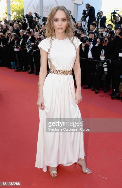 Actor LilyRose Depp attends the 'Ismael's Ghosts ' screening and Opening Gala during the 70th annual Cannes Film Festival at Palais des Festivals on...