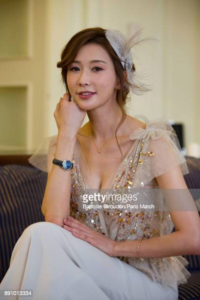 Actor Lin Chiling is photographed for Paris Match on December 1 2017 in Paris France