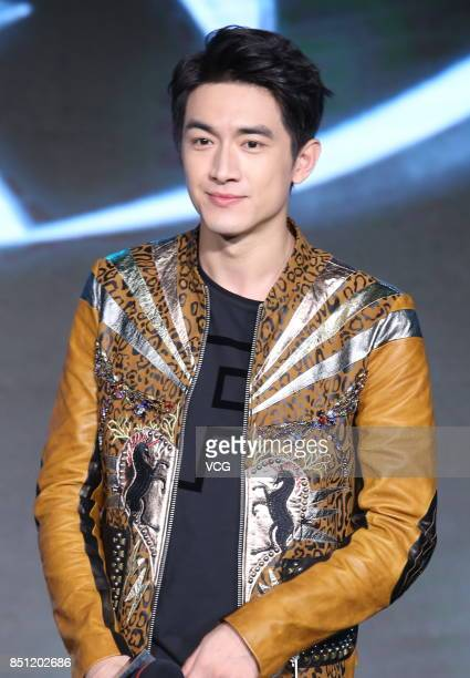 Actor Lin Gengxin attends the press conference of film Detective Dee The Four Heavenly Kings on September 21 2017 in Beijing China