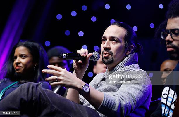 Actor Lin Manuel Miranda attends BroadwayCon 2016 at the Hilton Midtown on January 22 2016 in New York City