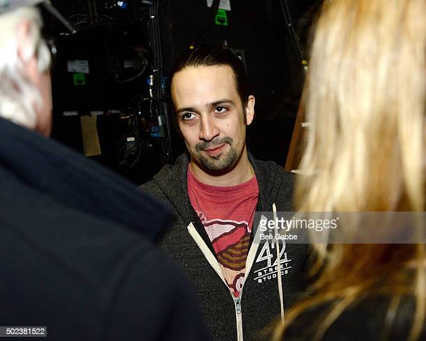 Actor Lin Manuel Miranda attends Broadway's 'Hamilton' at Richard Rodgers Theatre on December 23 2015 in New York City