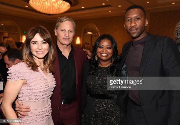 Actor Linda Cardellini actor Viggo Mortensen actorproducer Octavia Spencer and actor Mahershala Ali attend the 19th Annual AFI Awards at Four Seasons...