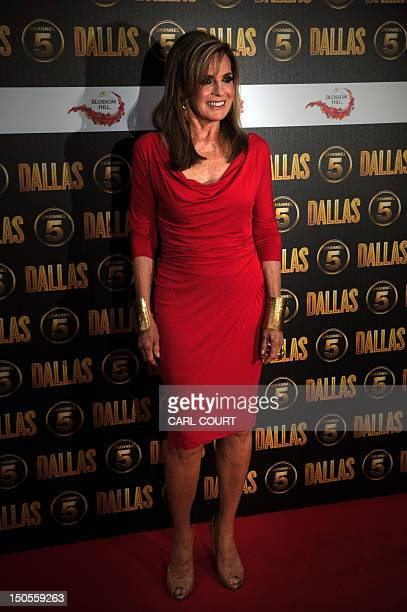 US actor Linda Gray arrives on the red carpet to attend the launch of the new 10part series of US television show Dallas in London on August 21 2012...
