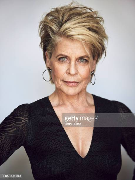 Actor Linda Hamilton is photographed for 20th Century Fox on July 17 2019 in Los Angeles California