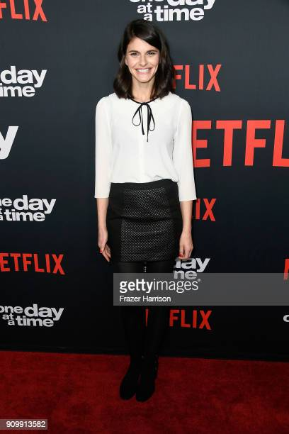 Actor Lindsey Kraft attends the premiere of Netflix's One Day At A Time Season 2 at ArcLight Hollywood on January 24 2018 in Hollywood California