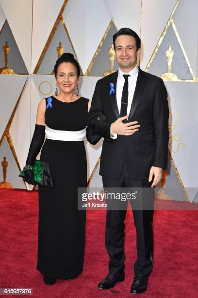 Actor LinManuel Miranda and Luz TownsMiranda attend the 89th Annual Academy Awards at Hollywood Highland Center on February 26 2017 in Hollywood...