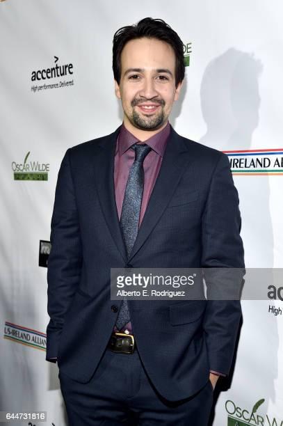 Actor LinManuel Miranda attends the 12th Annual USIreland Aliiance's Oscar Wilde Awards event at Bad Robot on February 23 2017 in Santa Monica...