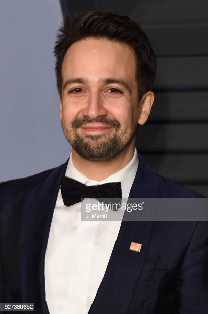 Actor LinManuel Miranda attends the 2018 Vanity Fair Oscar Party hosted by Radhika Jones at the Wallis Annenberg Center for the Performing Arts on...