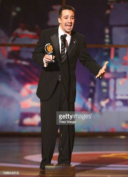 Actor LinManuel Miranda on stage during the 62nd Annual Tony Awards at Radio City Music Hall on June 15 2008 in New York City