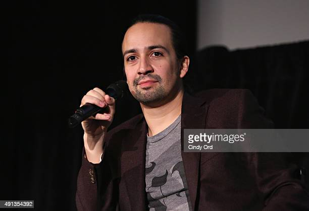 Actor LinManuel Miranda speaks onstage during The New Yorker Festival 2015 LinManuel Miranda Talks With Rebecca Mead at DGA Theater on October 4 2015...