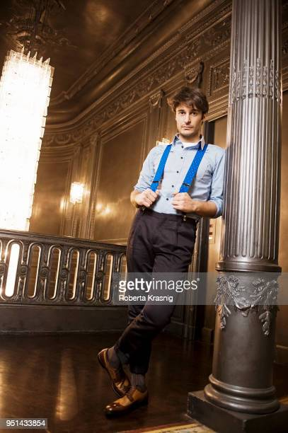 Actor Lino Guanciale is photographed for Self Assignment on January 2012 in Rome Italy