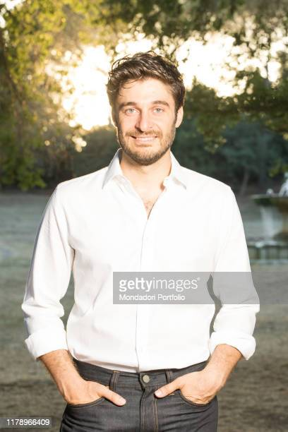 Actor Lino Guanciale smiling Rome Italy 28th July 2017