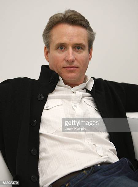 Actor Linus Roache attends a photo shoot for The Creative Coalition's Arts Funding Awareness PSA at Splashlight Studios on March 19 2009 in New York...
