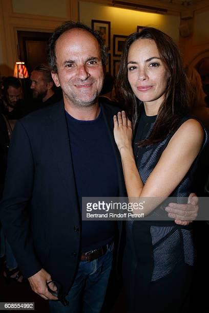 Actor Lionel Abelanski and actress of the play Berenice Bejo attend the 'Tout ce que vous voulez' Theater Play at Theatre Edouard VII on September 19...