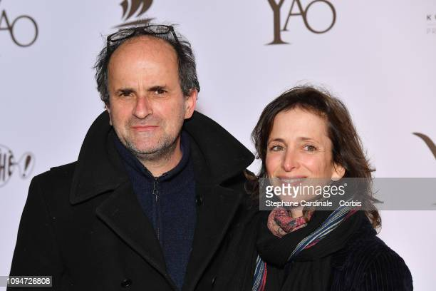 Actor Lionel Abelanski and his wife Nathalie LevyLang attend 'Yao' Paris Premiere at Le Grand Rex on January 15 2019 in Paris France