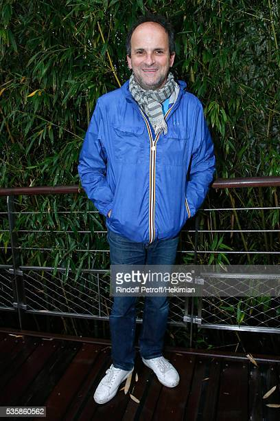 Actor Lionel Abelanski attends Day Nine of the 2016 French Tennis Open at Roland Garros on May 30 2016 in Paris France