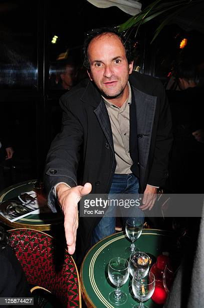 Actor Lionel Abelanski attends the Prix de Flore 2010 Literary Award Cocktail Party at the Cafe de Flore on November 4 2010 in Paris France