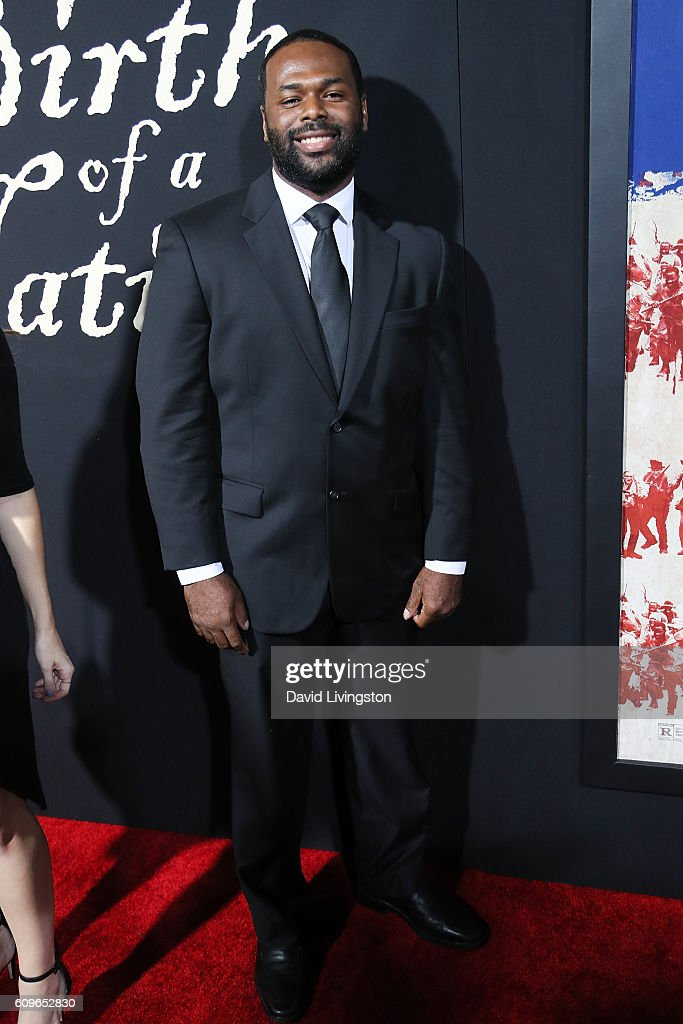 Actor Lionell Dalton arrives at the Premiere of Fox Searchlight Pictures' 'The Birth Of A Nation' at the ArcLight Cinemas Cinerama Dome on September 21, 2016 in Hollywood, California.