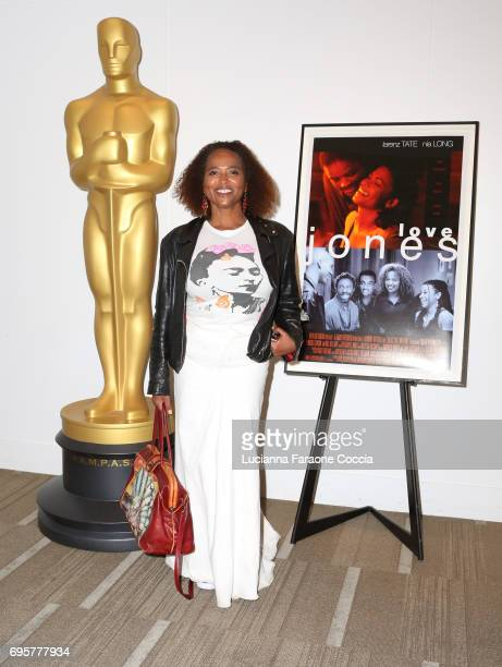 Actor Lisa Nicole Carson attends The Academy of Motion Picture Arts and Sciences' 20th anniversary celebration of 'Love Jones' at Samuel Goldwyn...