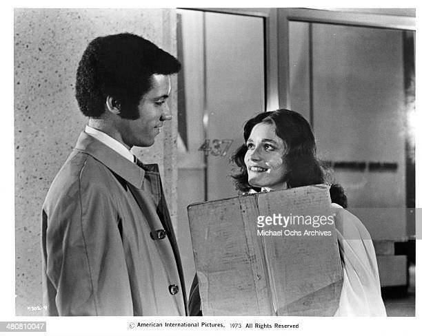 Actor Lisle Wilson and actress Margot Kidder in a scene from the movie Sisters circa 1973