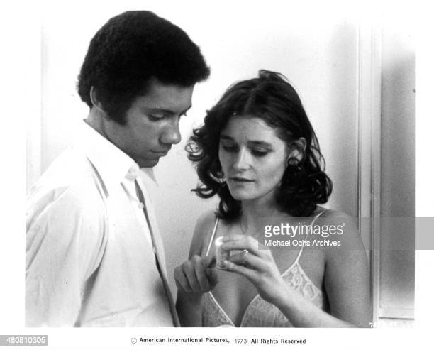 Actor Lisle Wilson and actress Margot Kidder in a scene from the movie 'Sisters' circa 1973