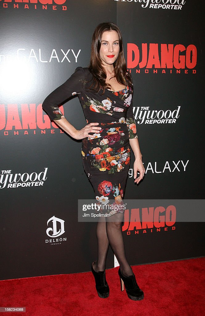 Actor Liv Tyler attends The Weinstein Company with The Hollywood Reporter, Samsung Galaxy & The Cinema Society screening of 'Django Unchained' at the Ziegfeld Theatre on December 11, 2012 in New York City.
