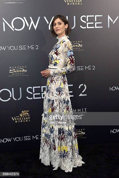 Actor Lizzy Caplan attends Summit Entertainment presents the world premiere of Now You See Me 2 at AMC Loews Lincoln Square on June 6 2016 in New...