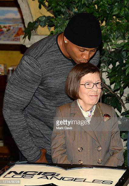Actor LL Cool J and actress Linda Hunt share a moment at the CBS' NCIS Los Angeles celebrates the filming of their 100th episode held at Paramount...