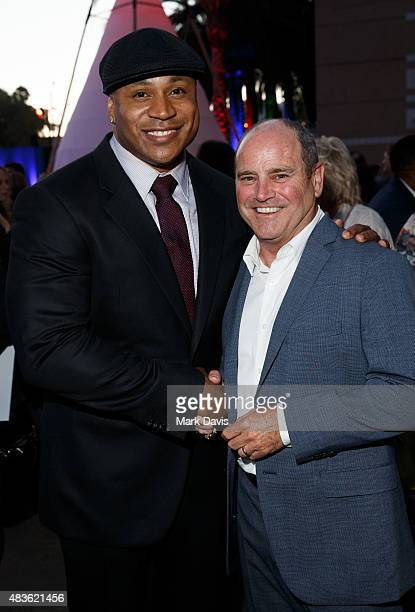 Actor L.L. Cool Jay and David Staph President, CBS Television Studios attend the CBS, CW And Showtime 2015 Summer TCA Party heldat the Pacific Design...