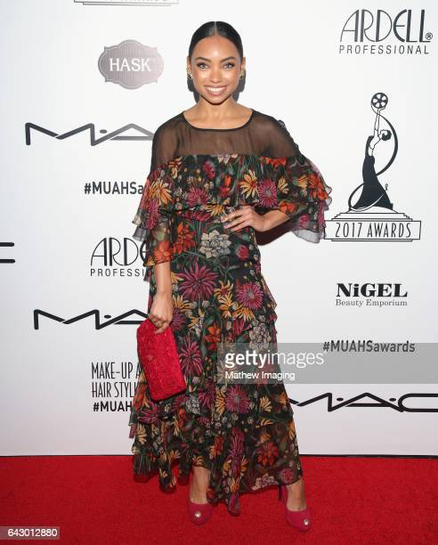 Actor Logan Browning attends the 2017 MakeUp Artists and Hair Stylists Guild Awards at The Novo by Microsoft on February 19 2017 in Los Angeles...