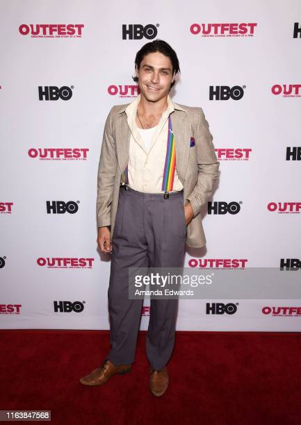 Actor Logan Huffman arrives at the 2019 Outfest Los Angeles LGBTQ Film Festival Breakthrough Centerpiece Screening of Straight Up at the TCL Chinese...