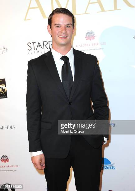 Actor Logan La Cross attends the Amare's Second Year Anniversary 'Believe Issue' Party held at Sofitel Los Angeles At Beverly Hills on December 13...