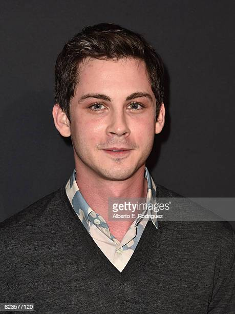 Actor Logan Lerman attends Prada Presents 'Past Forward' by David O Russell premiere at Hauser Wirth Schimmel on November 15 2016 in Los Angeles...