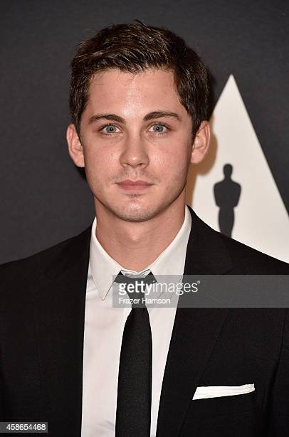 Actor Logan Lerman attends the Academy Of Motion Picture Arts And Sciences' 2014 Governors Awards at The Ray Dolby Ballroom at Hollywood Highland...