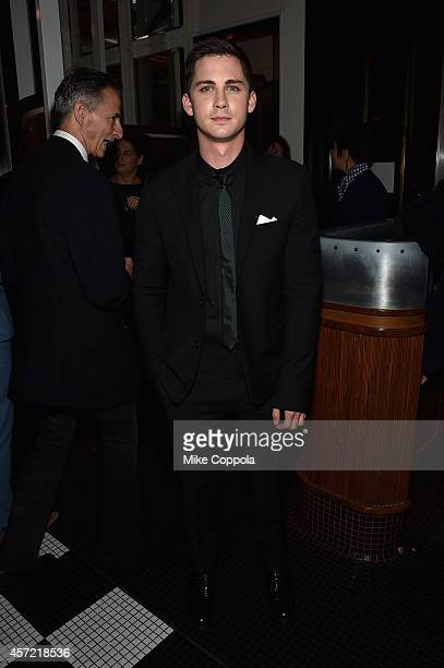 Actor Logan Lerman attends the Fury New York premiere at DGA Theater on October 14 2014 in New York City