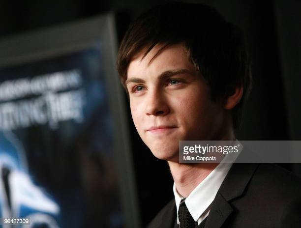 Actor Logan Lerman attends the Percy Jackson The Olympians The Lightning Thief special screening at AMC Loews Lincoln Square 13 theater on February 4...