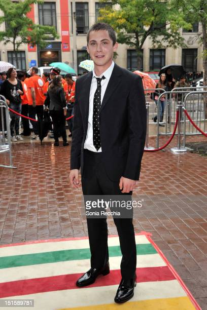 Actor Logan Lerman attends The Perks Of Being A Wallflower premiere during the 2012 Toronto International Film Festival at Ryerson Theatre on...
