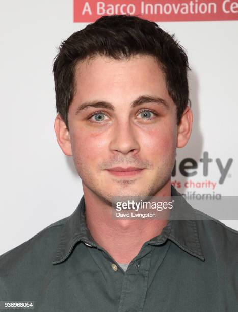 Actor Logan Lerman attends the red carpet world premiere of Sgt Stubby An American Hero at Regal Cinemas LA Live on March 27 2018 in Los Angeles...