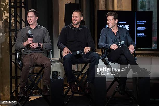 Actor Logan Lerman, director David Ayer and actor Jon Bernthal attend AOL's BUILD Series Presents: Logan Lerman and Jon Bernthal with director David...