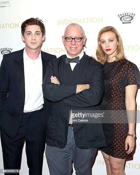Actor Logan Lerman Director James Schamus and Actress Sarah Gadon attend Summit Entertainment and Roadside Attractions New York premiere of...