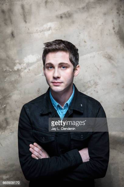 Actor Logan Lerman from the film Sidney is photographed at the 2017 Sundance Film Festival for Los Angeles Times on January 22 2017 in Park City Utah...