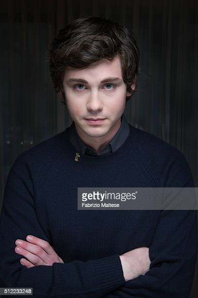 Actor Logan Lerman is photographed for The Hollywood Reporter on February 15 2016 in Berlin Germany