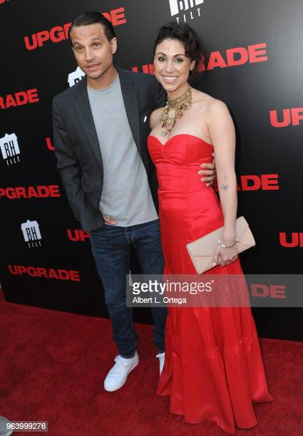 Actor Logan MarshallGreen and Diane MarshallGreen arrive for the premiere of BH Tilt's Upgrade held at the Egyptian Theatre on May 30 2018 in...