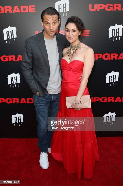 Actor Logan MarshallGreen and Diane MarshallGreen attend the premiere of BH Tilt's Upgrade at the Egyptian Theatre on May 30 2018 in Hollywood...