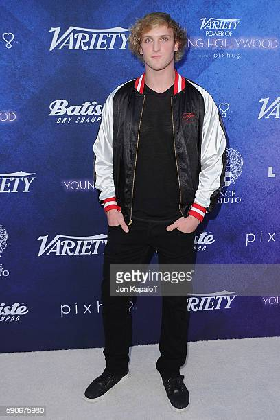 Actor Logan Paul arrives at Variety's Power Of Young Hollywood at NeueHouse Hollywood on August 16 2016 in Los Angeles California