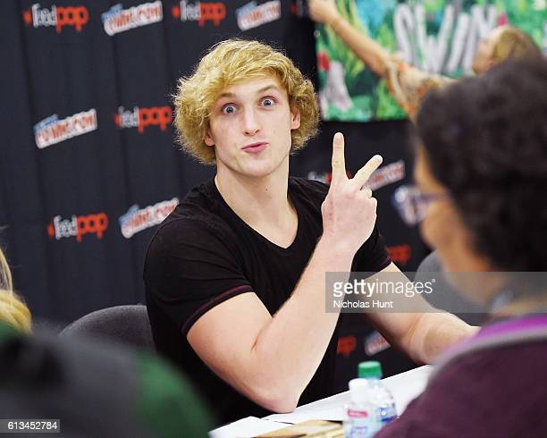 Actor Logan Paul attends The Thinning Meet Greet during the 2016 New York Comic Con Day 3 on October 8 2016 in New York City